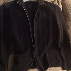 Kenneth Cole black zip up sweater xl